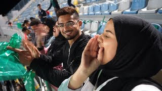 أول مرة نشجع المنتخب المغربي || The first time we encourage the Moroccan team