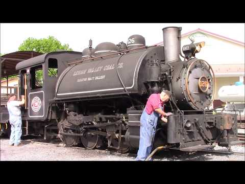 Lehigh Valley Coal Company 0-6-0T #126 at the Walkersville Southern Railroad Walkersville, MD