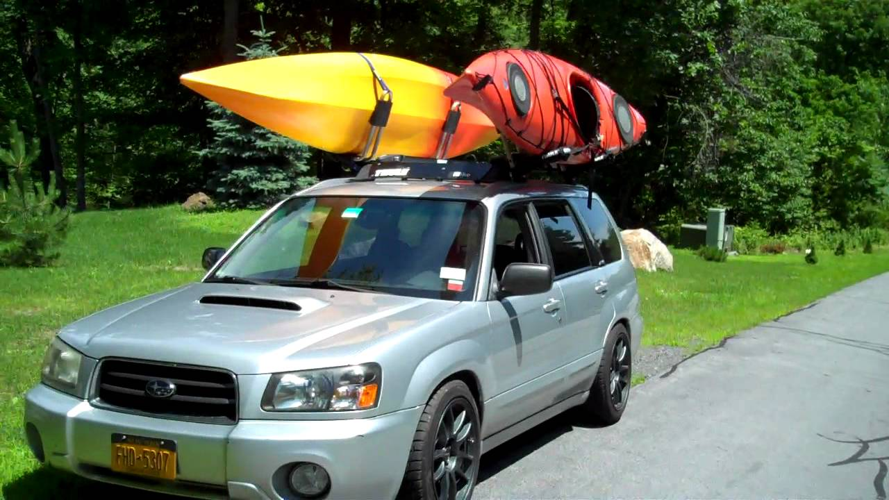 Forester With Kayaks On Top Youtube