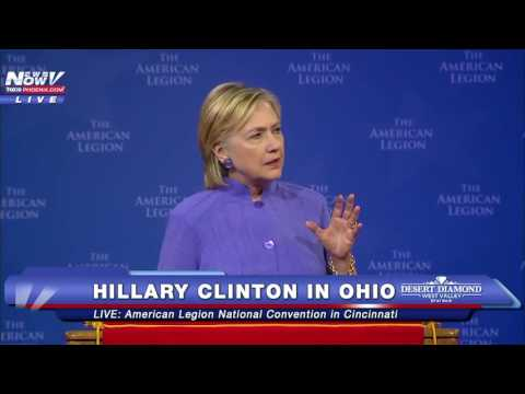 FNN: Hillary Clinton Blasts Trump During Speech at American Legion National Convention