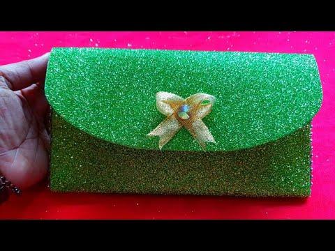 DIY: how to make glitter foam sheet ladies purse very easy 👛