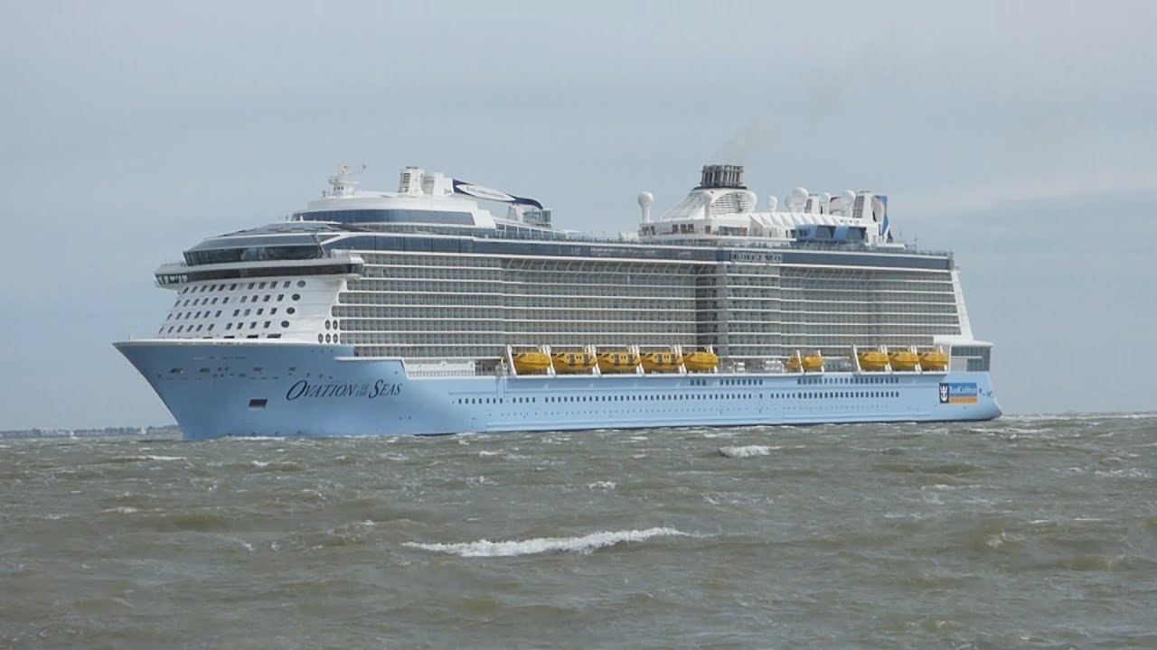 Ovation Of The Seas Maiden Arrival At Southampton Youtube
