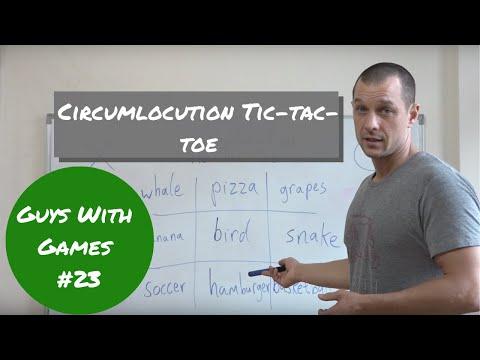 #23 Circumlocution Tic Tac Toe - no prep