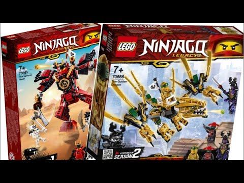 Собираем Новые Наборы Лего НиндзяГо Наследие : 70665 Робот Самурая X и 70666 Дракон Золотого Ниндзя