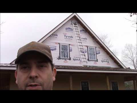 Building My Own Home: Episode 92 - Putting House Wrap on the Eastern Gable