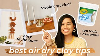 *BEST* DIY AIR DRY CLAY HACKS, TIPS, TRICKS, and TECHNIQUES | How To Ring Dish Tutorial