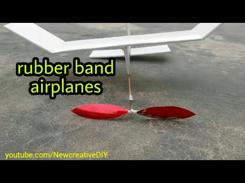 how to build a simple rubber band airplanes and fly long [newcd]