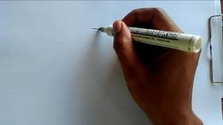 Cara mudah menggambar burung dari angka tiga