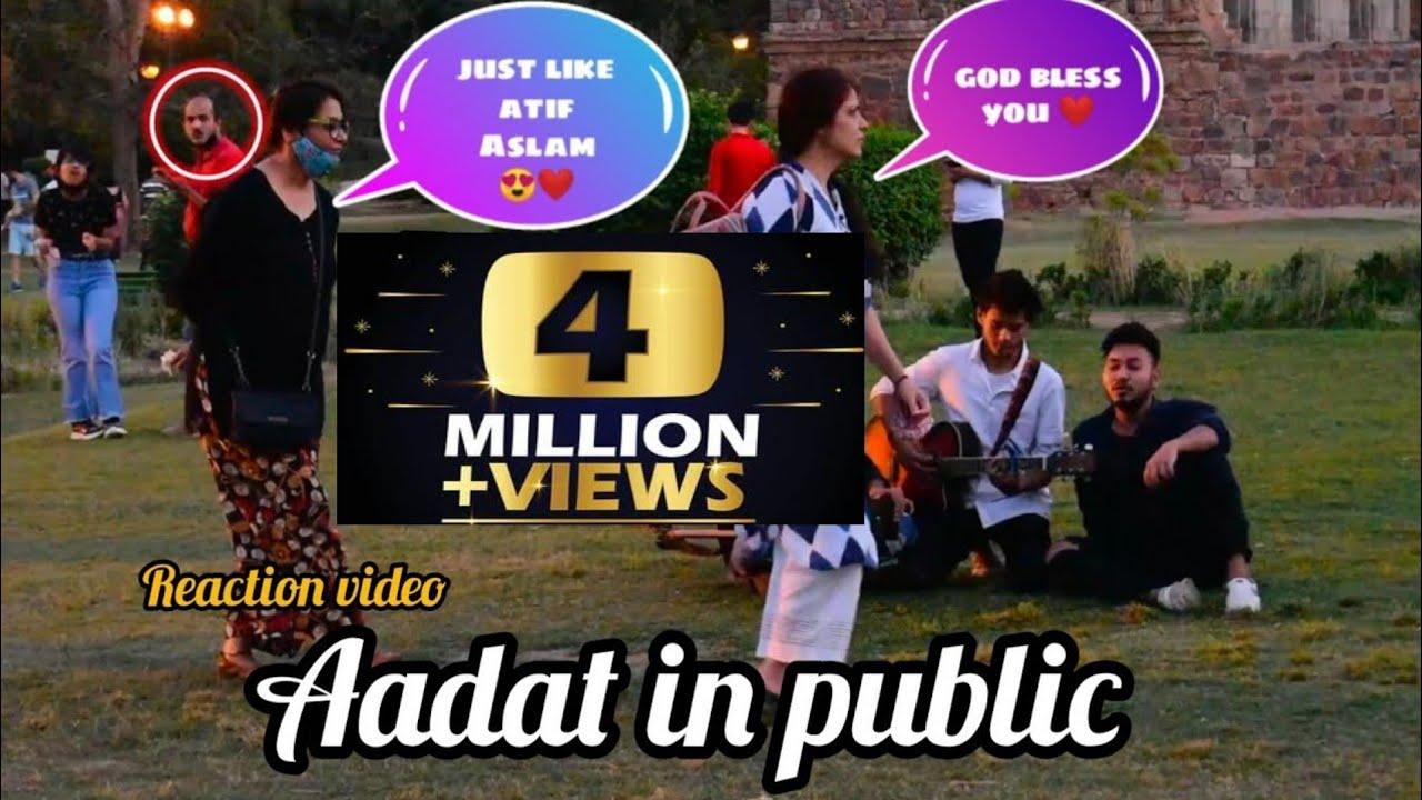 Download Aadat In Public | Singing Reaction Video | 2021 | Kardiya Prank