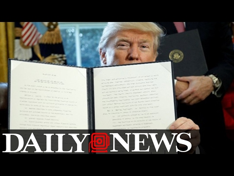 Trump Signs More Executive Orders For Cartels, Crime And Violence Toward Cops