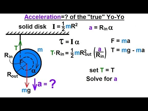 "Physics - Application of the Moment of Inertia (2 of 11) Acceleration=? of the ""True"" Yo-Yo"