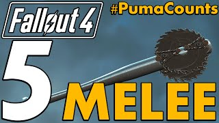 Top 5 Best Unique Melee Weapons in Fallout 4 #PumaCounts