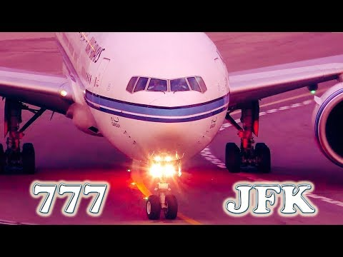 25 AIRLINES flying the BOEING 777 into JFK Airport!