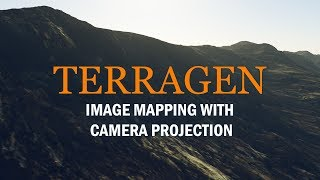 How to use image mapping with camera projections in Terragen
