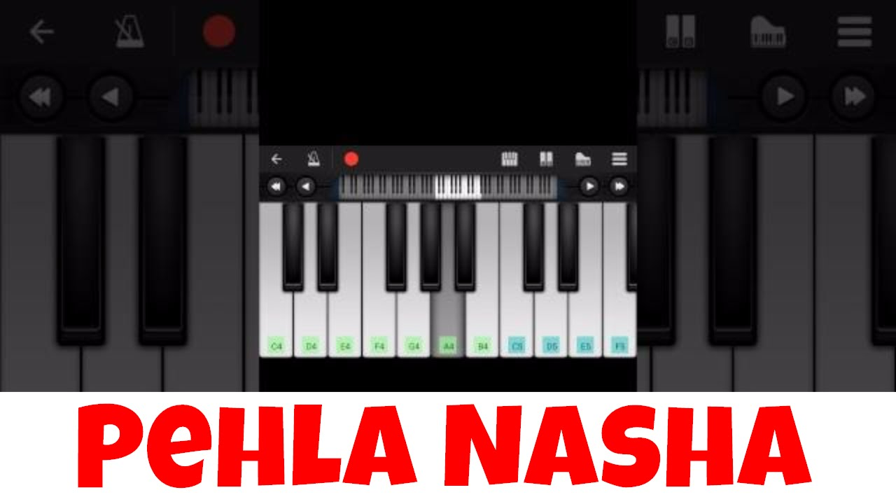 Pehla nasha I Perfect Piano Tutorial | Mobile Piano Tutorial Hindi Songs |  Easy App instrumental