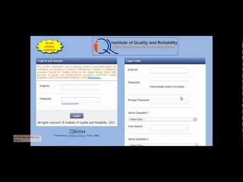 on line exam system for asq certification preparation by institute of quality and reliability certified reliability engineer