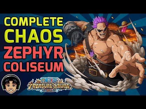 Walkthrough for Complete Chaos Zephyr Global Coliseum [One Piece Treasure Cruise]