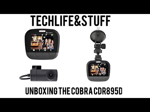 Unboxing Of The Cobra Drive HD CDR 895D Dual Dash Cam