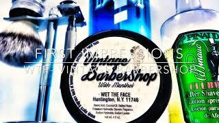 Wet The Face- Vintage Barbershop