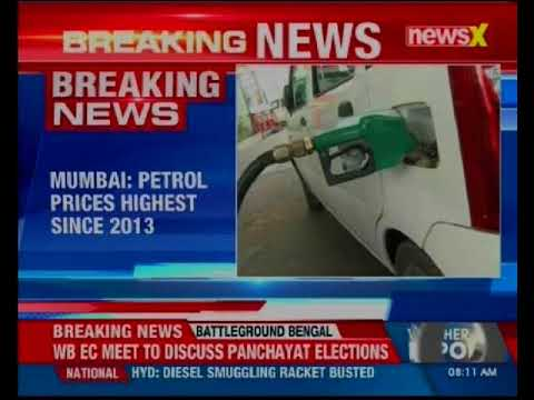 Mumbai: Petrol prices increases by 1 paisa, diesel by 4; highest since 2013