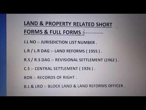 J.L NO , L.R , R.S , C.S , ROR , B.L & LRO  - FULL & SHORT FORMS