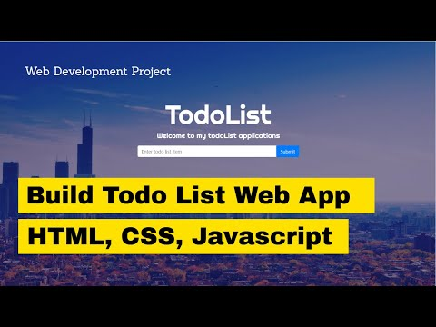 How to Program a Todo List Web Application: html, css