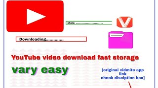YouTube+video downloading easy system and original vidmite apk link 2020.ASHIK TACH channel