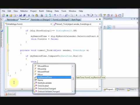 Visual C# (c sharp) Tutorial: How To Make A Sticky Note Application Part 3/3 - codecall.net