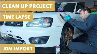 JDM IMPORT | 2001 Subaru Legacy RSK B4 Time Lapse Video Clean-up Project