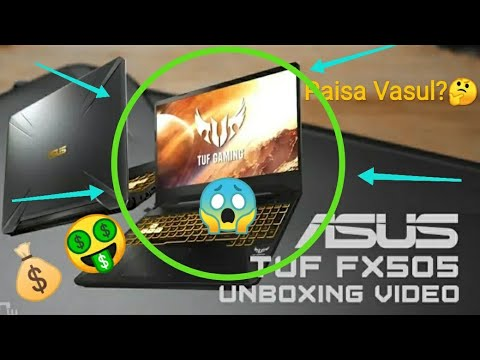 Asus Tuf fx505dy Gaming Laptop Unboxing And Review || AMD Ryzen5-3550H || Radeon 560x
