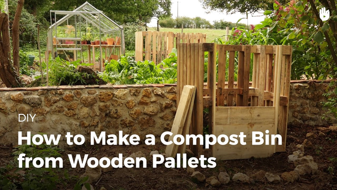 pallet compost bin. how to make a compost bin from wooden pallets pallet