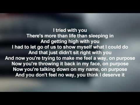 Drake - Feels No Way (Lyrics Only)