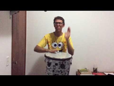 Como Tocar Timbau - Aula 2 (Som Aberto e Slap) Subtitled in English and Spanish