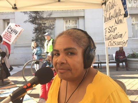 Stop Attacking Public Workers! SEIU 1021 Highland Hospital Steward Darla  Smith On Union Busting