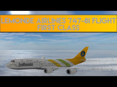 Roblox Lemonde Airlines Flight 747-8i (First Class)