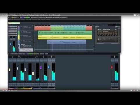 Cubase LE AI Elements 8 – Quick Start Video Tutorials – Basic Mixing