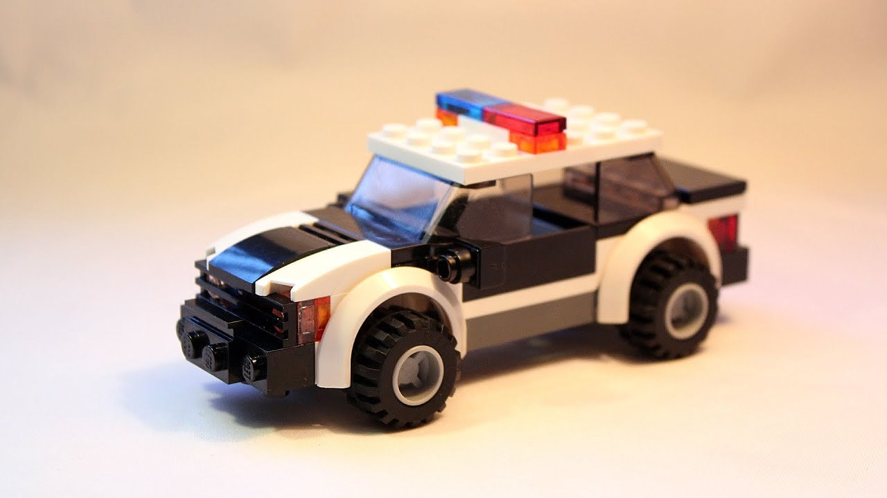 Custom Lego Moc Police Patrol Car Building Instructions Youtube