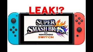 Did Nintendo just LEAK Super Smash Bros Switch!?