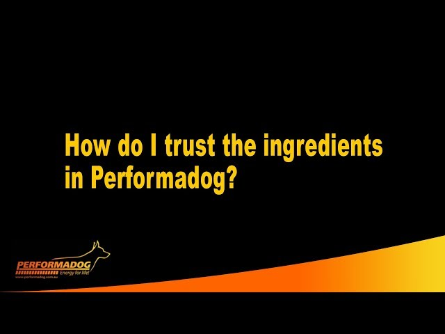 How do I trust the ingredients in Performadog Dog  and iPurr Cat Food?