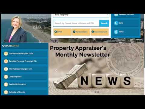 PBC Property Appraiser's Office - PAPA Website Redesign - General Search & Property Detail Record