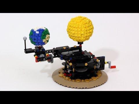 LEGO Orrery - Earth, Moon and Sun