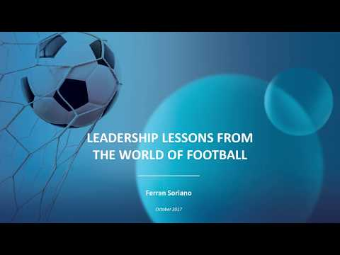 CIO Summit 2017 - Leadership Lessons From The World Of Football