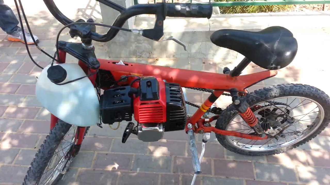 Mini Bike Minibike Home Made 52cc Engine Motorized Bicycle Youtube