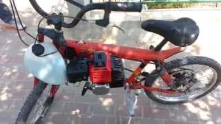 mini bike minibike home made 52cc engine motorized bicycle.