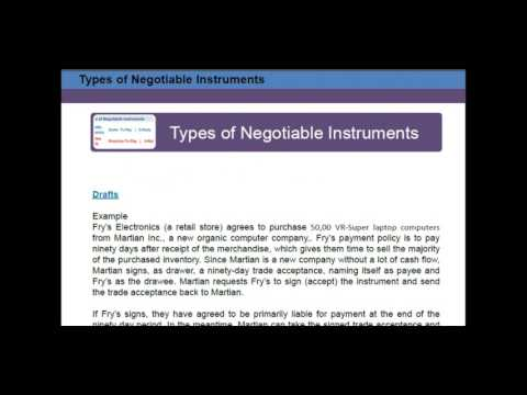 CPA Exam REG Negotiable Instruments Commercial Paper Sample Lesson