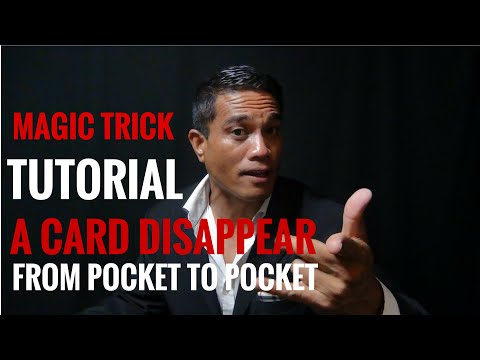 Selected Card Vanish and into Pocket Tutorial