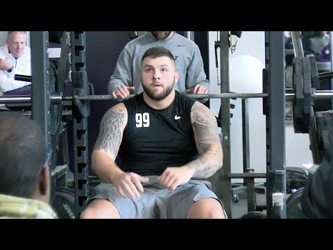 Kansas State Football | Players Bench Press At 2020 Pro Day | March 4, 2020