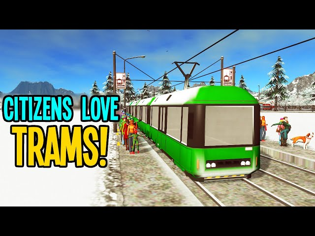 Citizens Go MAD for Trams & Heat in Cities Skylines Vanilla!