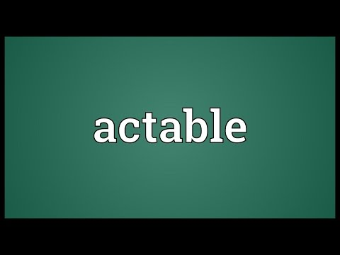 Header of actable