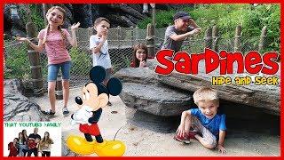 SARDINES Hide And Seek At DISNEYLAND Paris / That YouTub3 Family